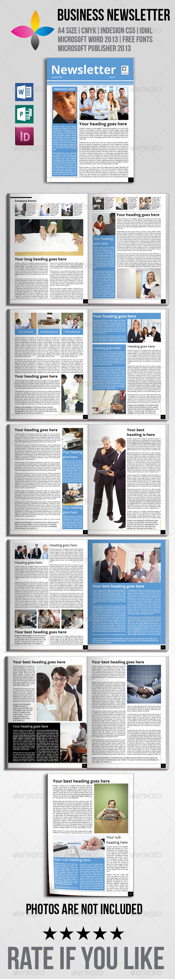 Business Newsletter - Newsletters Print Templates