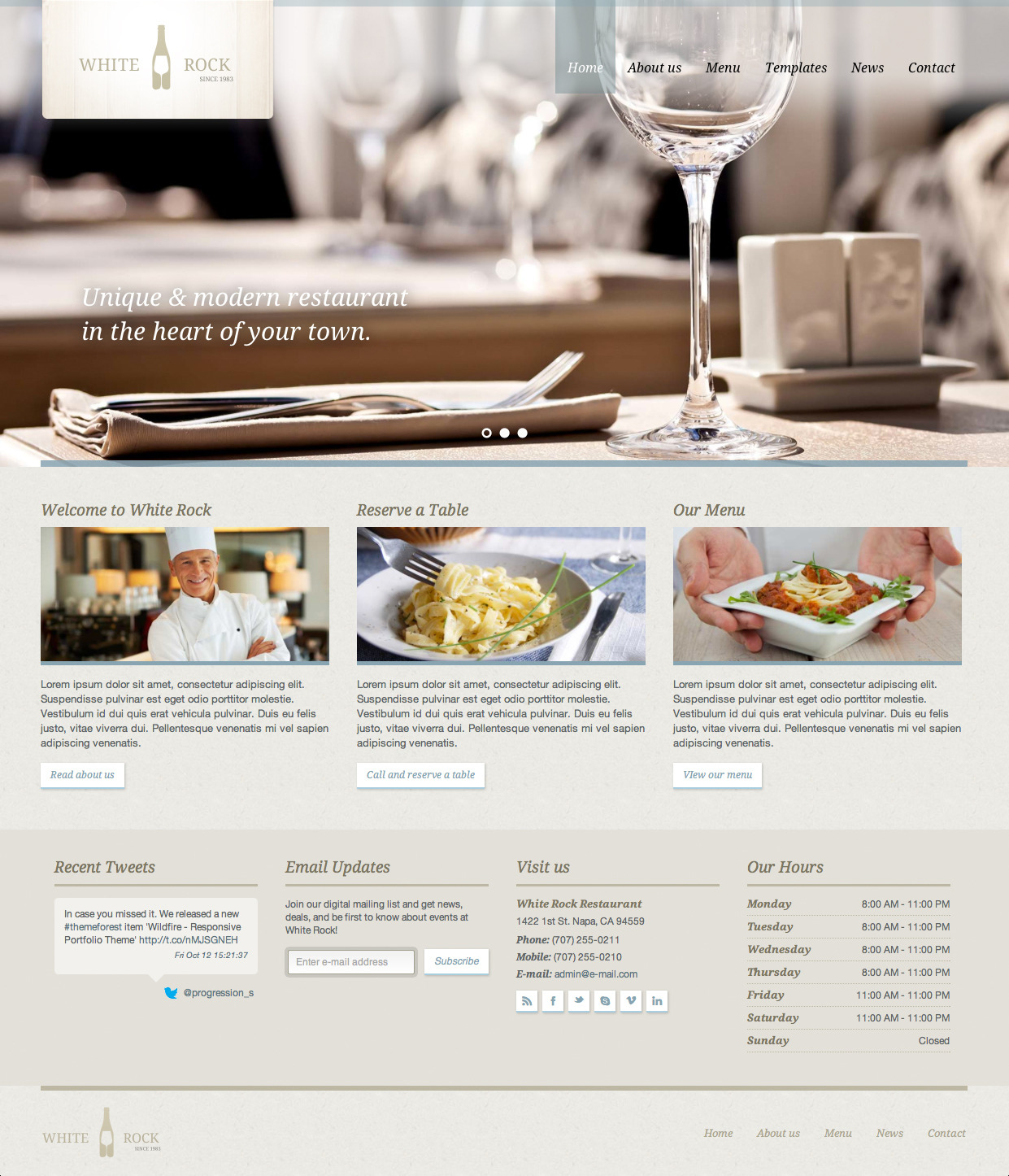 White Rock - Restaurant & Winery Theme by ProgressionStudios ...