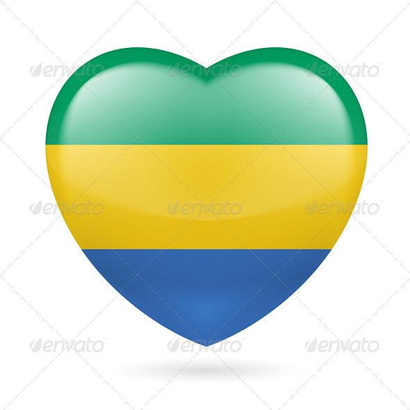 Heart Icon of Gabon - Miscellaneous Vectors