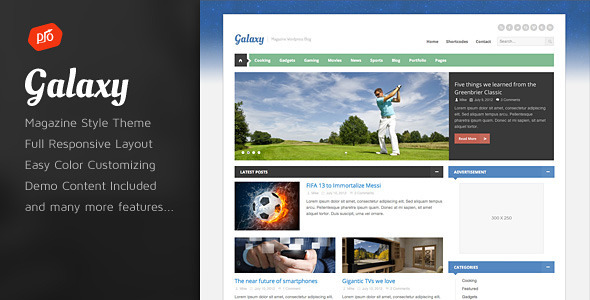 Galaxy – Responsive Magazine Theme