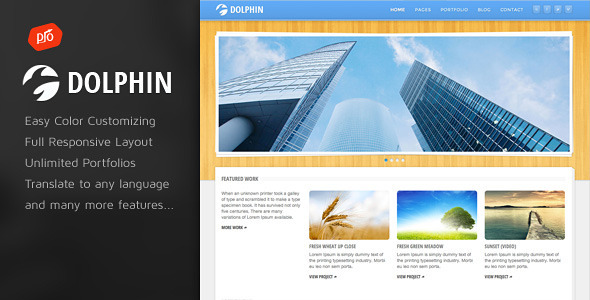 Dolphin – Responsive WordPress Theme