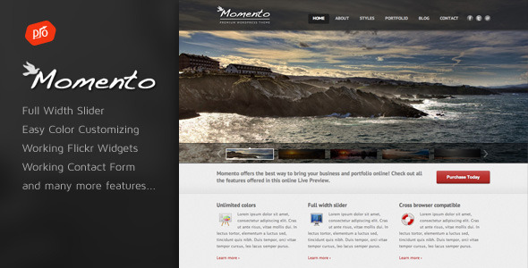 Free Download Momento - Photography and Business Template Nulled Latest Version