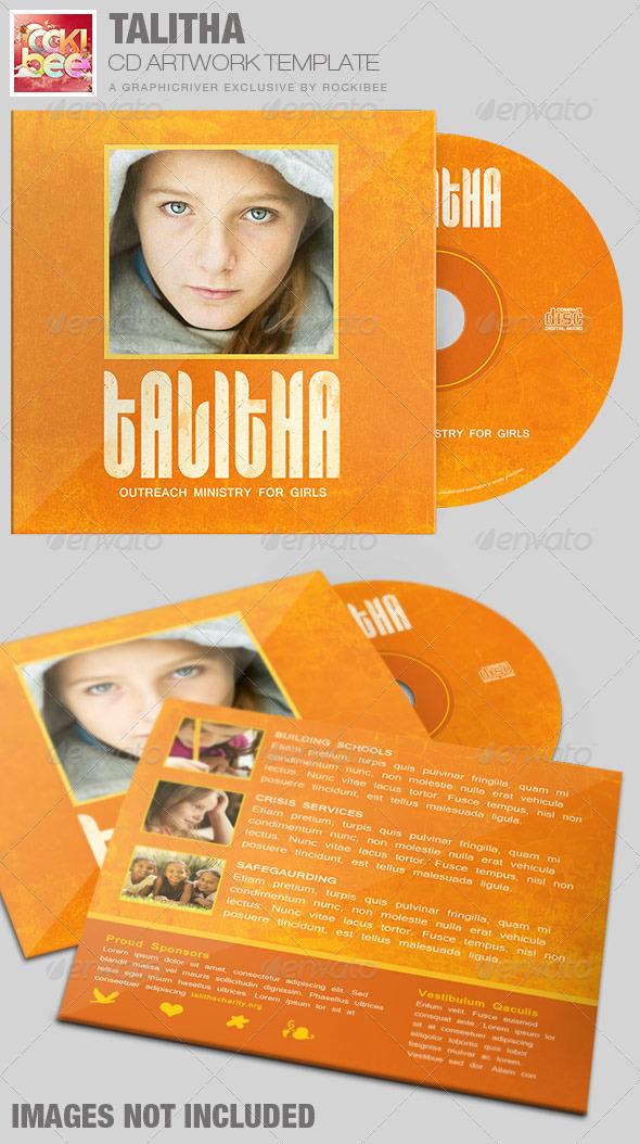 Talitha Charity CD Artwork Template - CD & DVD Artwork Print Templates