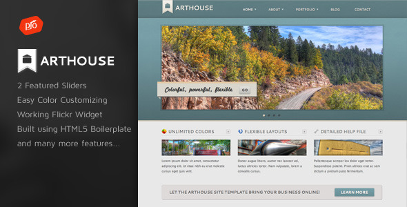Free Download Arthouse - Premium Business & Portfolio Template Nulled Latest Version