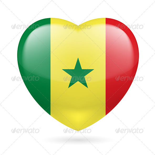 Heart Icon of Senegal - Miscellaneous Vectors