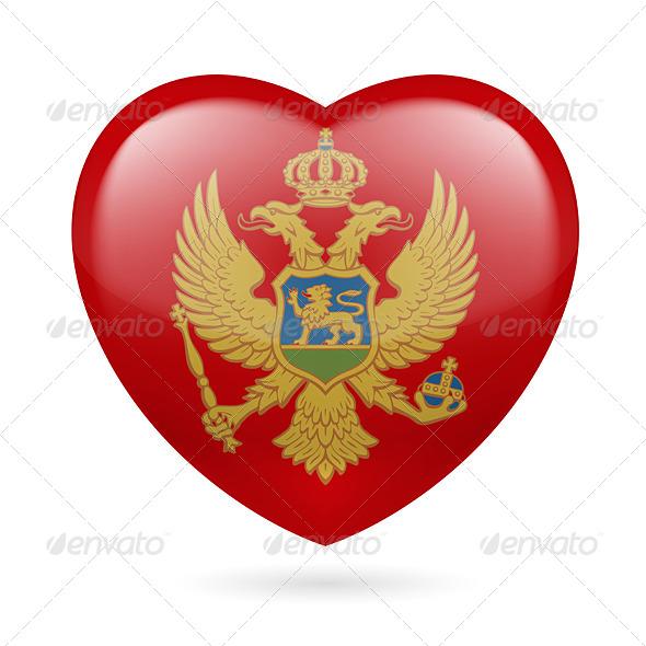 Heart Icon of Montenegro - Miscellaneous Vectors