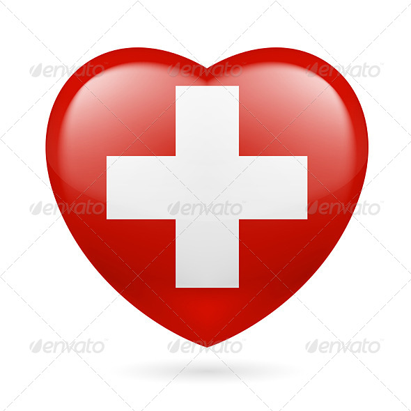 Heart Icon of Switzerland - Miscellaneous Vectors