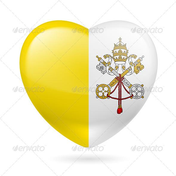 Heart Icon of Vatican City - Miscellaneous Vectors