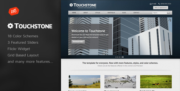 Free Download Touchstone - Corporate & Portfolio Template Nulled Latest Version