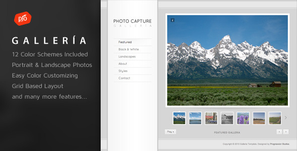 Free Download Galleria - Photography and Portfolio Template Nulled Latest Version