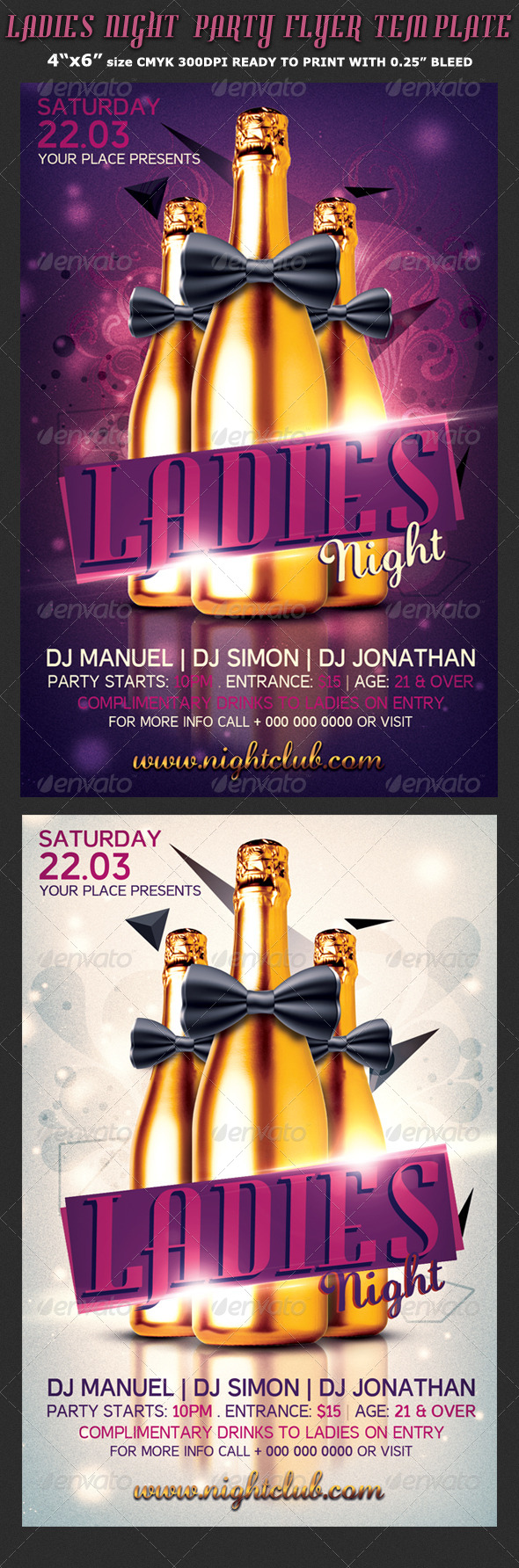 Ladies Night-Bachelorette Flyer Template - Clubs & Parties Events