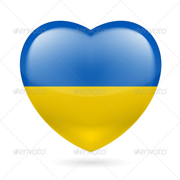Heart Icon of Ukraine - Miscellaneous Vectors