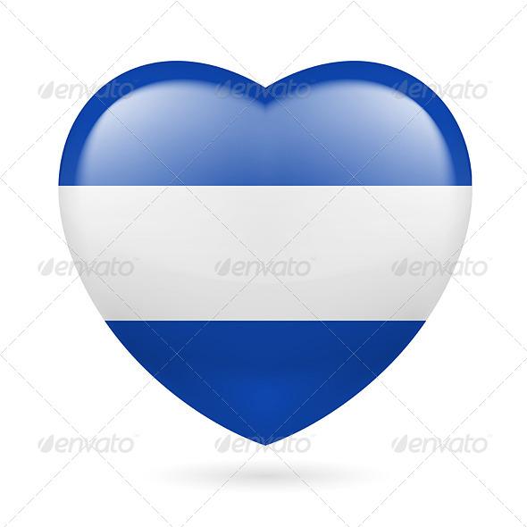 Heart Icon of El Salvador - Miscellaneous Vectors