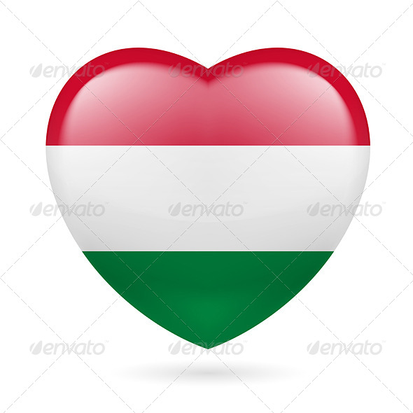 Heart Icon of Hungary - Miscellaneous Vectors
