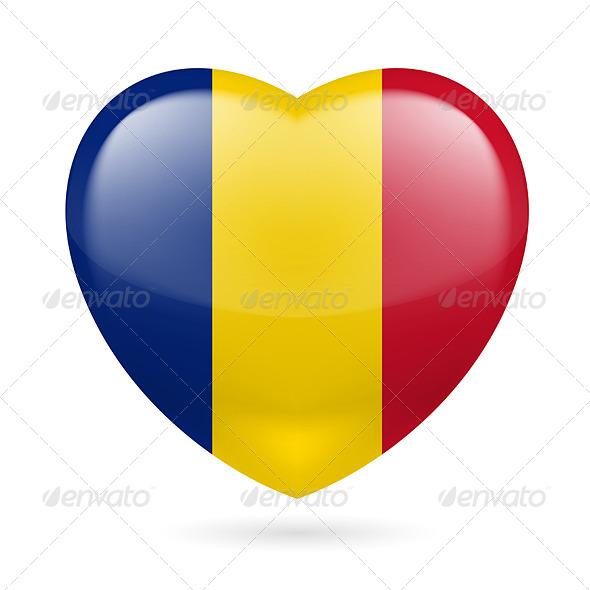 Heart Icon of Romania - Miscellaneous Vectors