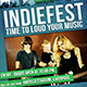 Indiefest Live Music Flyer - GraphicRiver Item for Sale