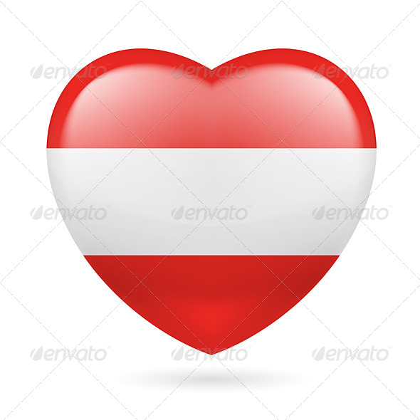 Heart Icon of Austria - Miscellaneous Vectors