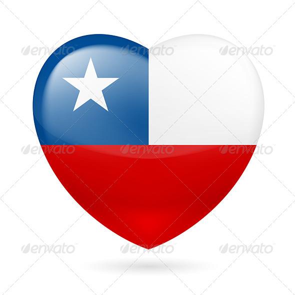Heart Icon of Chile - Miscellaneous Vectors