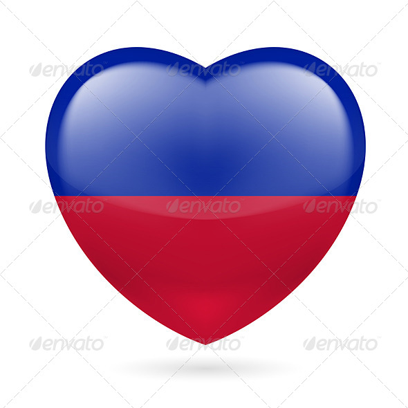Heart Icon of Haiti - Miscellaneous Vectors