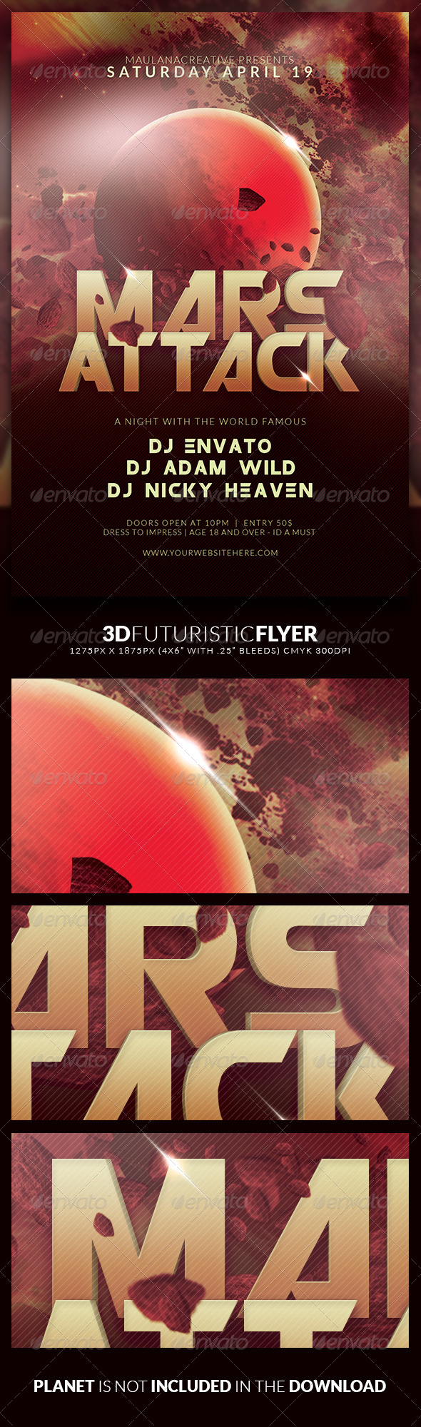 3d Futuristic Flyer - Clubs & Parties Events