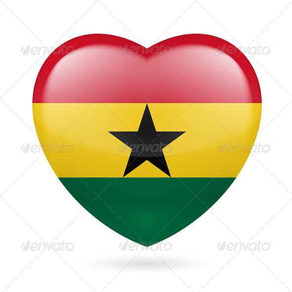 Heart Icon of Ghana - Miscellaneous Vectors