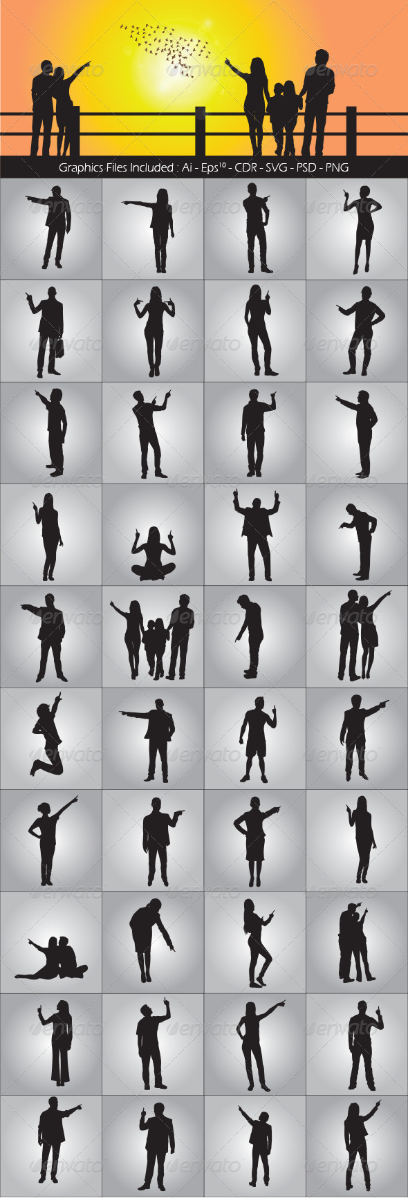 Pointing - People Characters