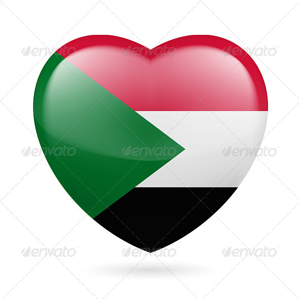 Heart Icon of Sudan - Miscellaneous Vectors