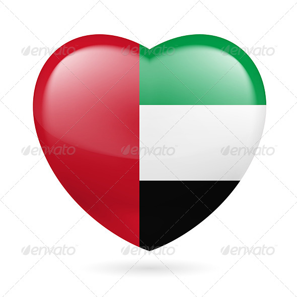 Heart Icon of United Arab Emirates - Miscellaneous Vectors