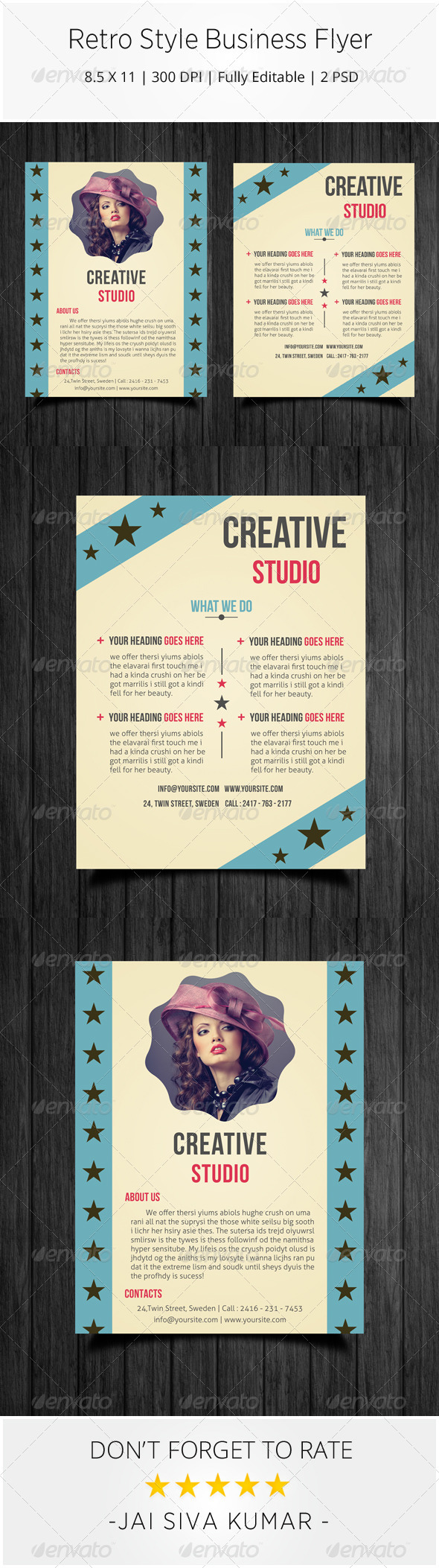 Retro Style Business Flyer - Corporate Flyers