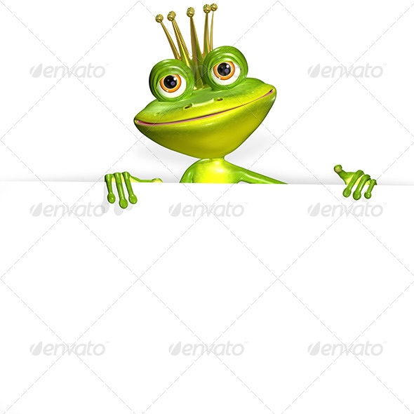 princess frog and white background - Characters 3D Renders