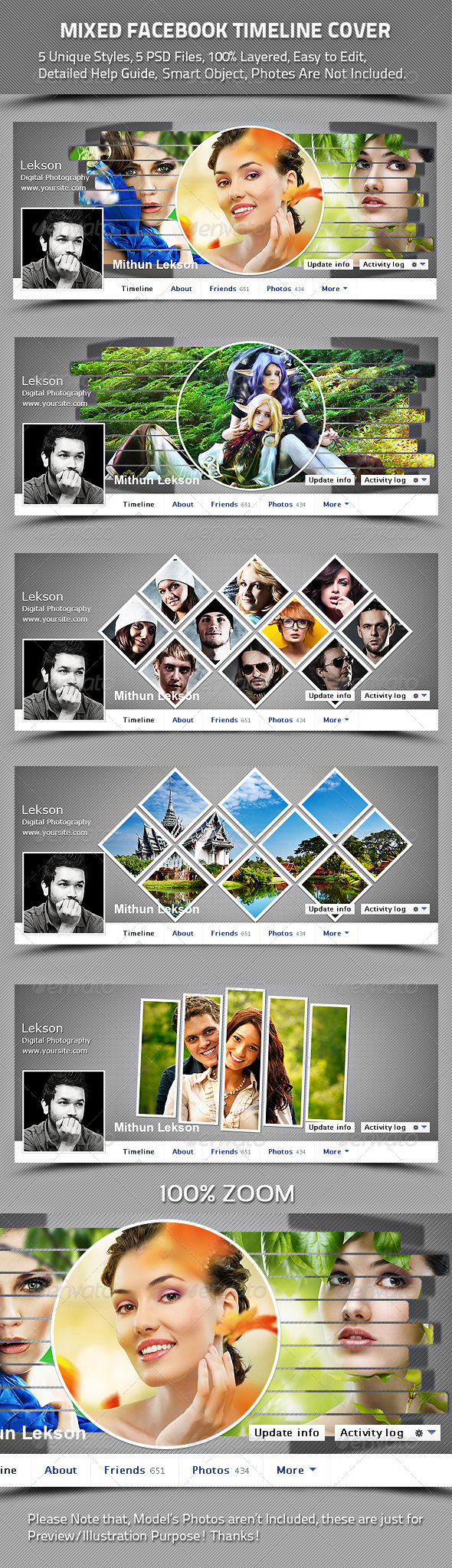 Mixed Facebook Timeline Cover - Facebook Timeline Covers Social Media
