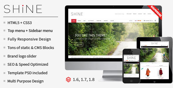 Shine – Responsive Multipurpose Magento Theme