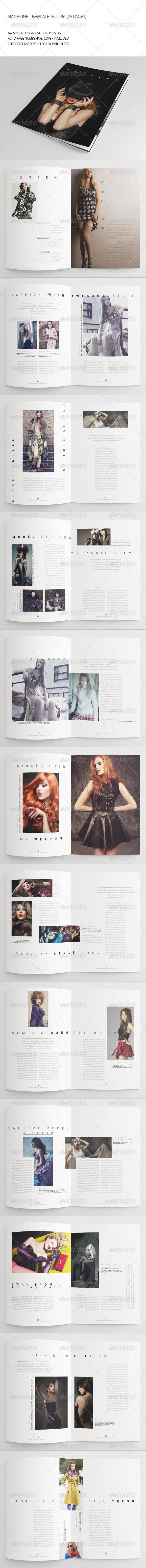 25 Pages Fashion Magazine Vol36 - Magazines Print Templates