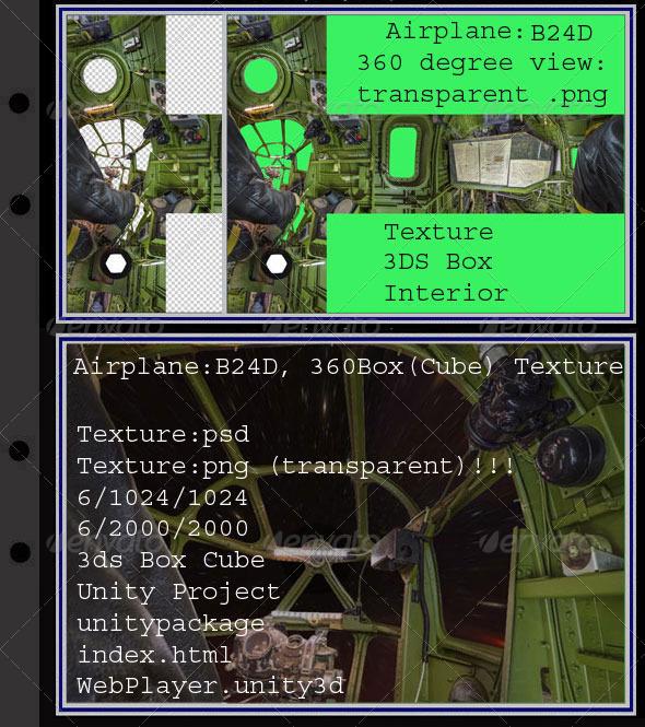 Airplane B24D interior - 3DOcean Item for Sale