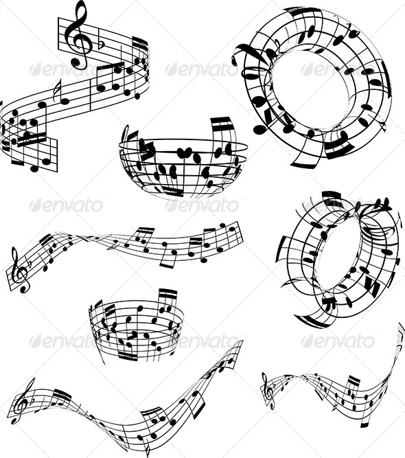 Abstract music notes - Miscellaneous Conceptual