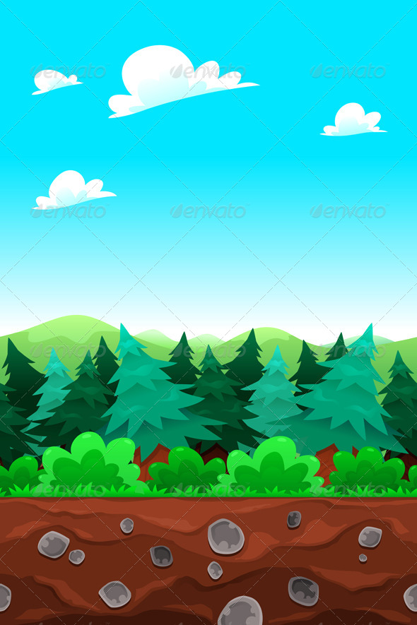 Green Wood Tile-able Sides - Landscapes Nature