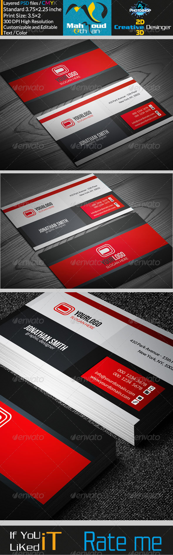 Corporate Business Card V17 - Corporate Business Cards