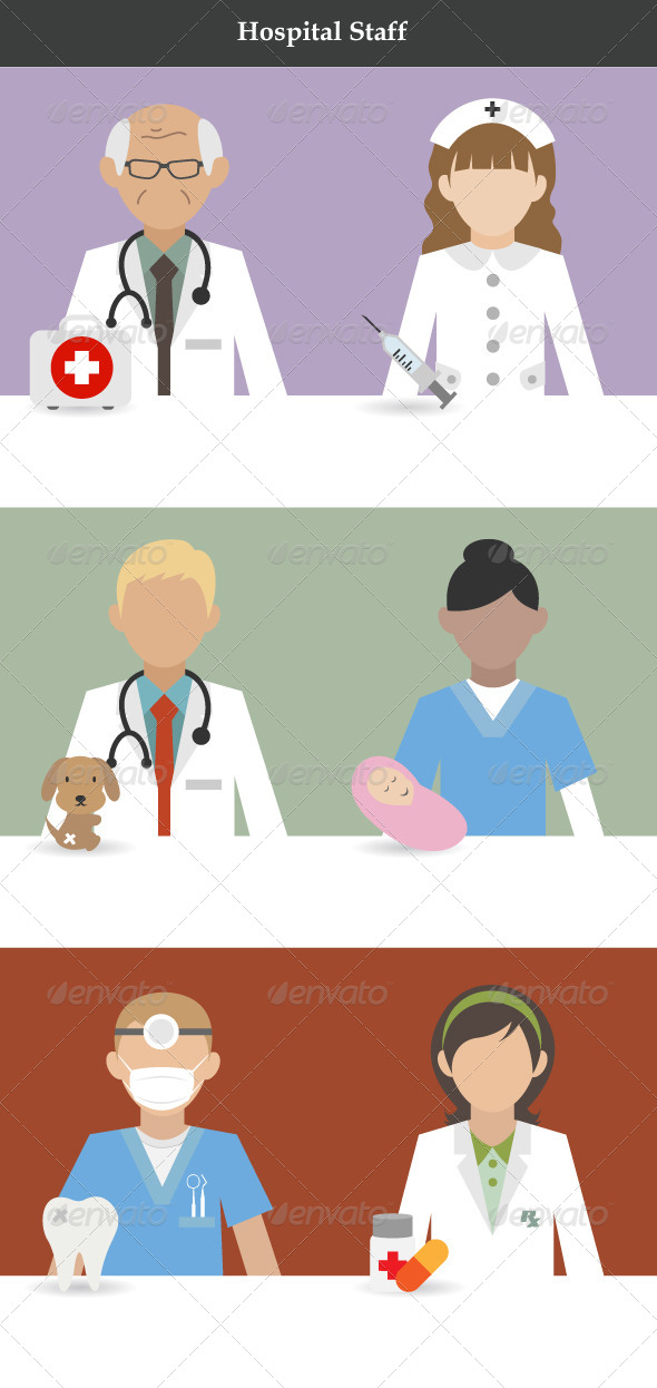 Hospital Staff - People Characters