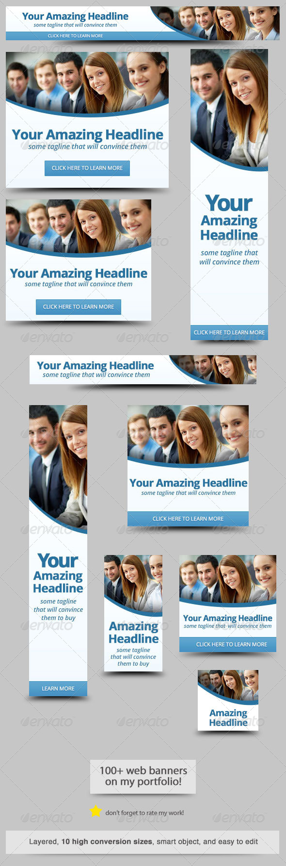 Corporate Web Banner Design Template 35 - Banners & Ads Web Elements