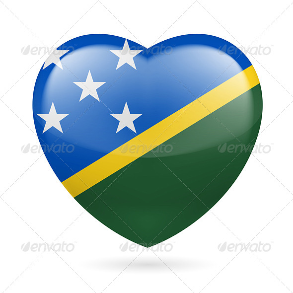 Heart Icon of Solomon Islands - Miscellaneous Vectors