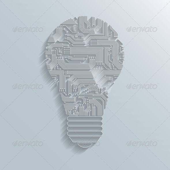 Circuit Board Bulb - Concepts Business