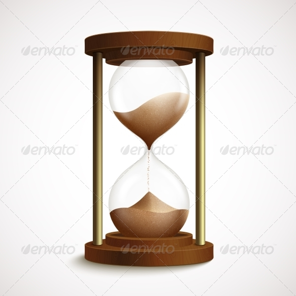 Retro Hourglass Clock - Man-made Objects Objects