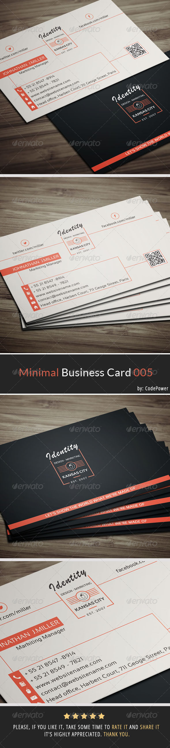 Minimal Business Card 005 - Corporate Business Cards