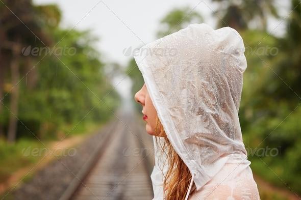 Trip in heavy rain - Stock Photo - Images