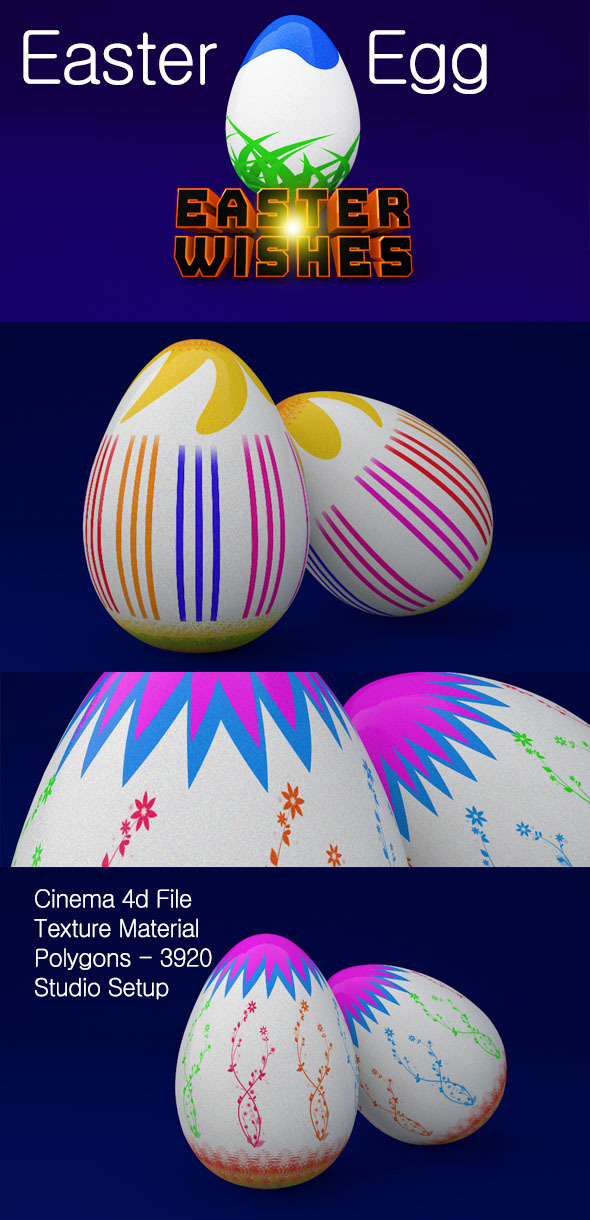 3D Easter Egg  - 3DOcean Item for Sale
