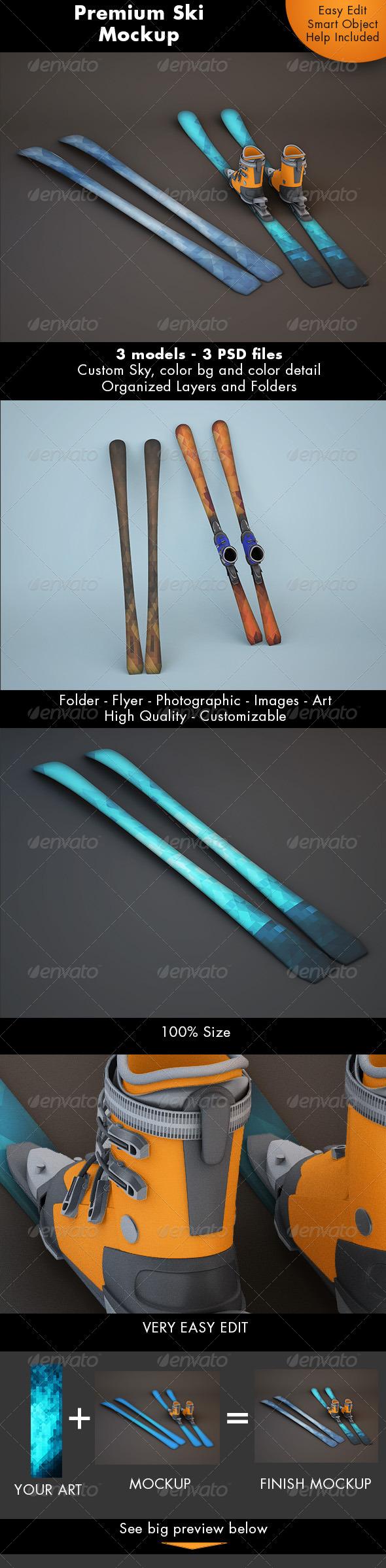Ski Mockup - Miscellaneous Product Mock-Ups