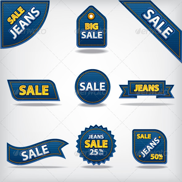 Jeans Sale Tags - Retail Commercial / Shopping