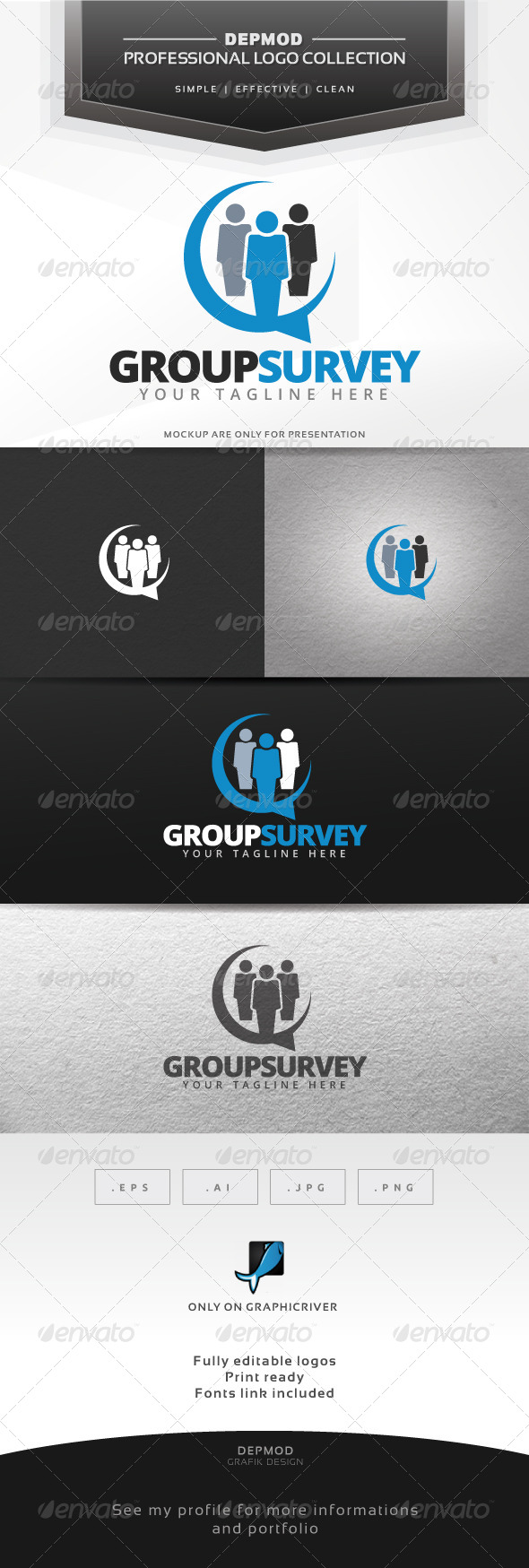 Group Survey Logo - Symbols Logo Templates
