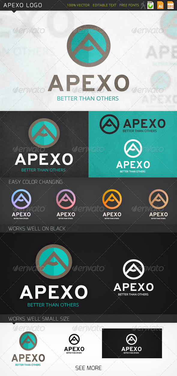 Apexo Letter A Logo Template - Letters Logo Templates