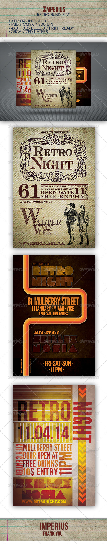 Retro Bundle V1 - Events Flyers